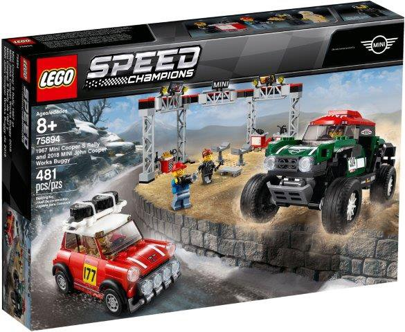 LEGO 1967 Mini Cooper S Rally oraz 2018 MINI John Cooper Works Buggy