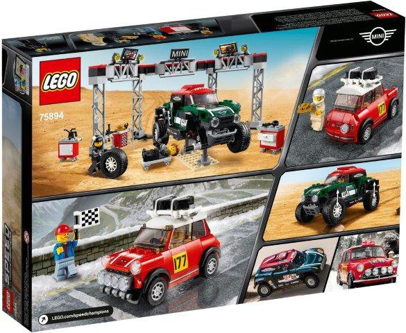 Klocki LEGO 1967 Mini Cooper S Rally oraz 2018 MINI John Cooper Works Buggy